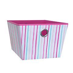 Laura Ashley Lifestyles Painterly Stripe Medium Grommet Storage Tote