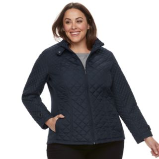 Plus Size Weathercast Quilted Moto Jacket