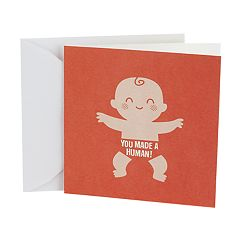 Hallmark Studio Ink Baby Congratulations 'Made a Human' Greeting Card