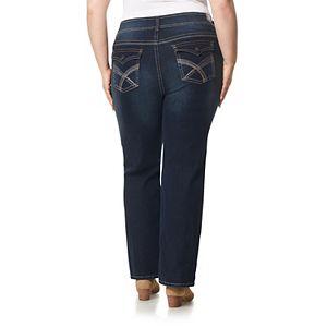 Juniors' Plus Size Wallflower Insta Stretch? Midrise Curvy Bootcut Jeans