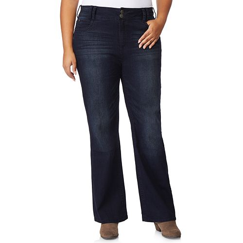 f51bbb0dc4e52 Juniors  Plus Size Wallflower Insta Stretch™ Midrise Luscious Curvy Bootcut  Jeans