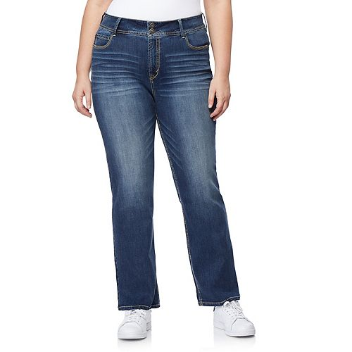 Juniors' Plus Size WallFlower Insta Stretch™ Midrise Curvy Bootcut Jeans