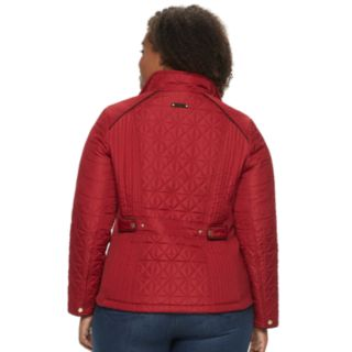 Plus Size Weathercast Quilted Stretch Jacket
