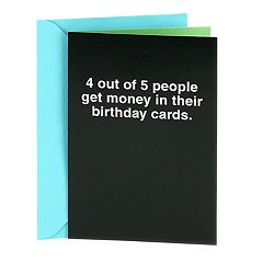 Hallmark Shoebox Funny Birthday '4 Out of 5 People' Greeting Card