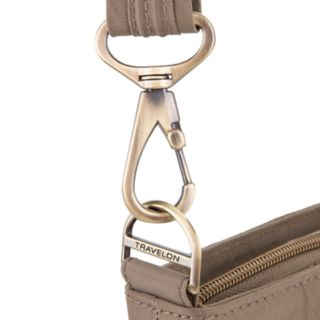 Travelon Anti-Theft Signature Double Zip Crossbody Bag