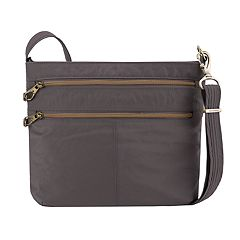 Travelon Anti-Theft Signature Double Zip Crossbody Bag