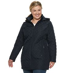 Plus Size Weathercast Quilted Stretch Walker Jacket