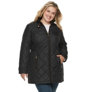 Plus Size Weathercast Quilted Anorak Walker Jacket