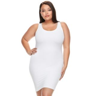 Plus Size Red Hot by Spanx Sleek Slimmers Tank Slip 1649P