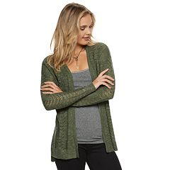 Juniors' Cloud Chaser Pointelle Cardigan