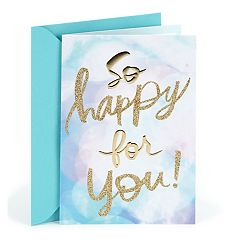 Hallmark Congratulations 'So Happy for You' Greeting Card