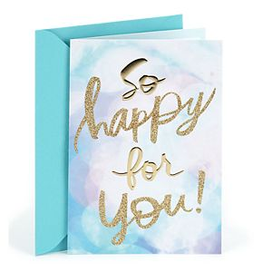 "Hallmark Congratulations ""So Happy for You"" Greeting Card"