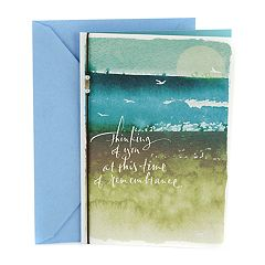 Hallmark Sympathy 'Seascape with Birds' Greeting Card