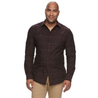 Big & Tall Urban Pipeline? Awesomely Soft Regular-Fit Textured Button-Down Shirt