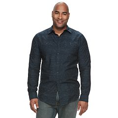 Big & Tall Urban Pipeline™ Awesomely Soft Regular-Fit Textured Button-Down Shirt