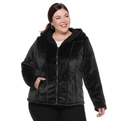 Plus Size Weathercast Hooded Fleece Jacket