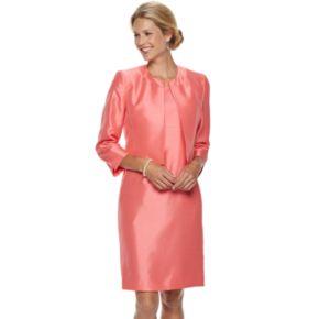 Women's Le Suit Sateen Open-Front Jacket & Dress Suit