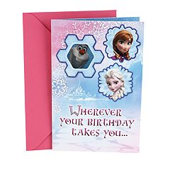 Hallmark Birthday 'Disney Frozen Olaf Stickers' Kids Greeting Card