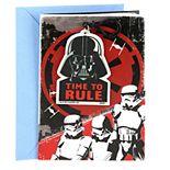 """Hallmark Birthday """"Star Wars Darth Vader Backpack Clip"""" Greeting Card"""