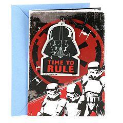 Hallmark Birthday 'Star Wars Darth Vader Backpack Clip' Greeting Card