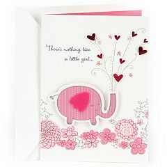 Hallmark Congratulations 'Pink Elephant' Baby Girl Greeting Card