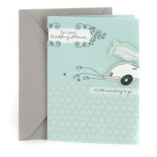 "Hallmark Wedding Shower ""Get-Away Car"" Greeting Card"
