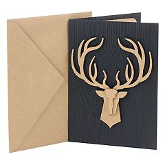 Hallmark Signature Birthday 'Deer Head' Greeting Card