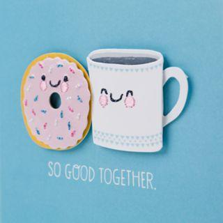 "Hallmark Signature Anniversary ""Coffee and Doughnut"" Greeting Card"