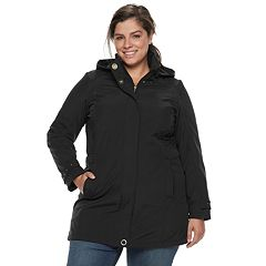 Plus Size Weathercast Hooded Soft Shell Walker Jacket