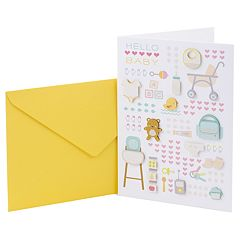 Hallmark Signature New Baby 'Baby Icons' Greeting Card
