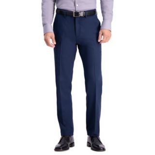 Men's Haggar All-Day Comfort Stretch Straight-Fit Flat-Front Dress Pants