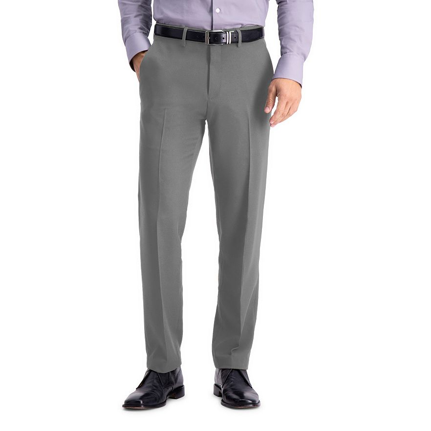 Haggar Men's All-Day Comfort Stretch Straight-Flat Front Dress Pants