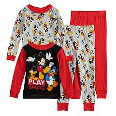Disney's Mickey Mouse Toddler Boy Donald & Pluto Top & Bottoms Pajama Set