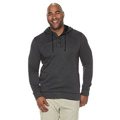 Big & Tall SONOMA Goods for Life™ Supersoft Sweater Fleece Henley Hoodie
