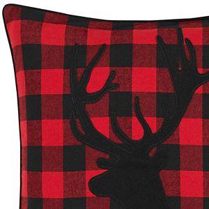 Eddie Bauer Cabin Plaid Stag Head Throw Pillow