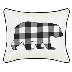 Eddie Bauer Cabin Plaid Bear Breakfast Throw Pillow