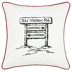 Eddie Bauer Ski Village Throw Pillow
