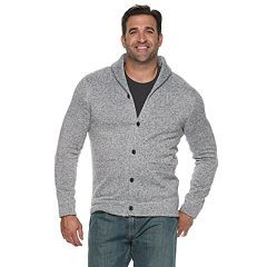 Big & Tall SONOMA Goods for Life™ Modern-Fit Supersoft Sweater Fleece Shawl-Collar Cardigan