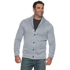 Big & Tall SONOMA Goods for Life™ Supersoft Sweater Fleece Shawl-Collar Cardigan