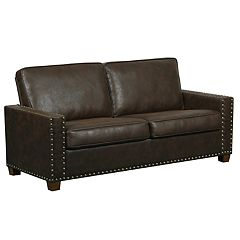 Pulaski Nailhead Faux-Leather Sofa