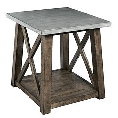 Pulaski Farmhouse Distressed End Table