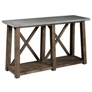 Pulaski Farmhouse Distressed Sofa Console Table