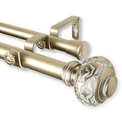 Rod Desyne Maple Double Curtain Rod