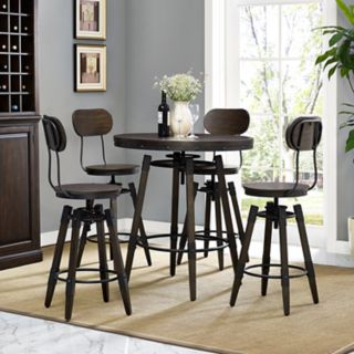 Right2Home Industrial Swivel Bar Stool