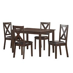 Right2Home Traditional Dining Table & Chairs 5-piece Set