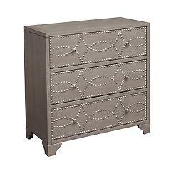 Right2Home Nailhead 3-Drawer Dresser
