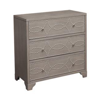 Right2Home Nailhead 3-Drawer Dresser