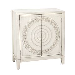 Right2Home Carved Distressed Storage Cabinet