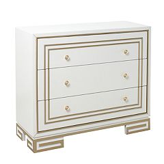 Right2Home Modern Gold Finish Trim 3-Drawer Dresser