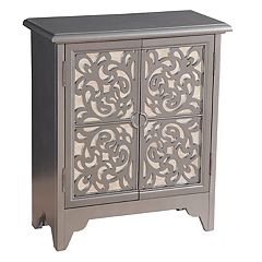 Right2Home Scroll Mirrored Storage Chest